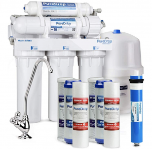 PureDrop RTW5 Under Sink 5 Stage Reverse Osmosis Drinking Water Filtration System